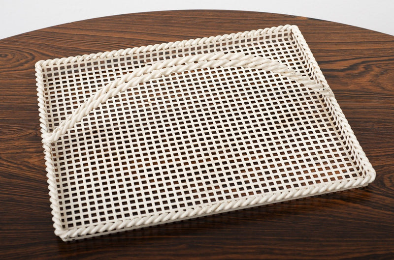 Mathieu Matégot Serving Tray in Enameled Perforated Metal, France, 1950s