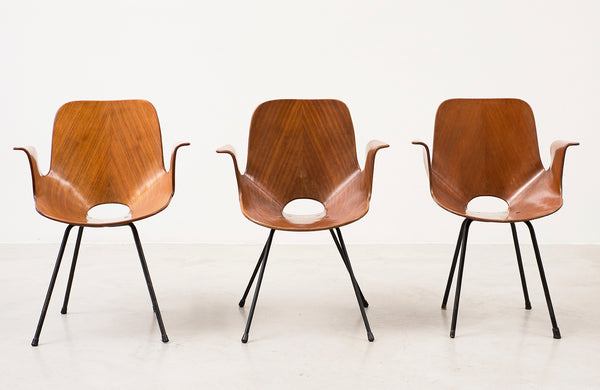 Set of Three Medea Armchairs by Vittorio Nobili, Italy, 1950s