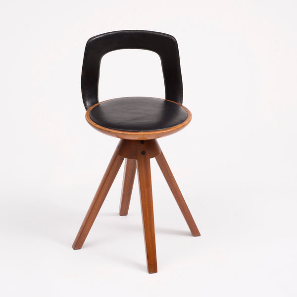 Tove and Edvard Kindt-Larsen Swivel Stool in Teak, 1957