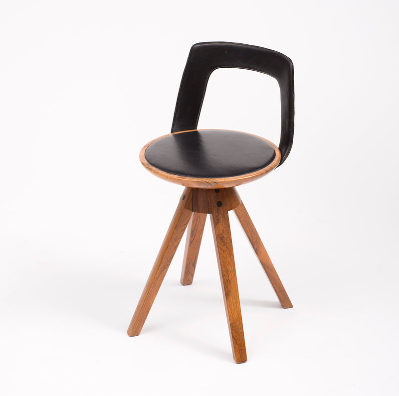 Tove and Edvard Kindt-Larsen Swivel Stool in Rosewood, 1957