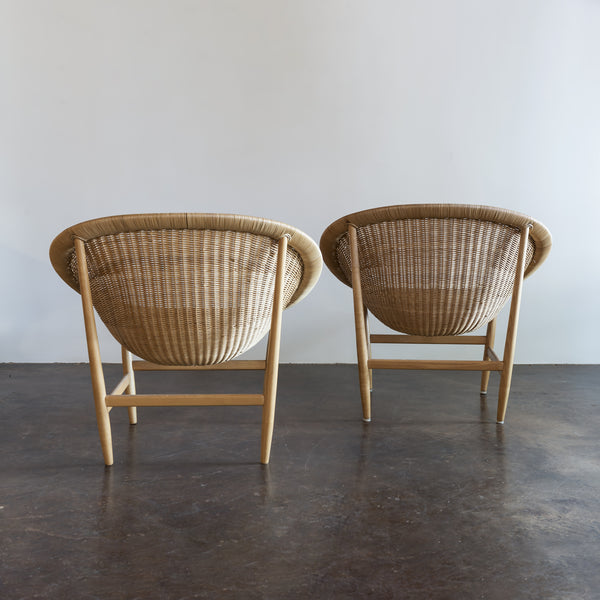 Pair of Iconic Basket Chairs by Nanna Ditzel, Denmark, 1950s
