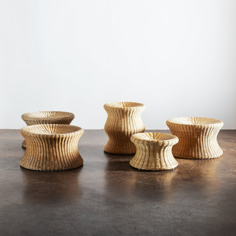 Small Juttu Wicker Stool by Eero Aarnio, Finland, 1960s