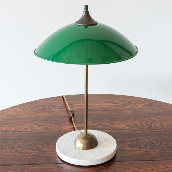 Italian Desk Lamp in Brass and Marble by Stilux, 1950s