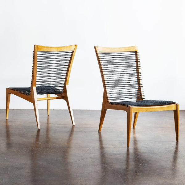 Pair of Louis Sognot Lounge Chairs, France, 1950s