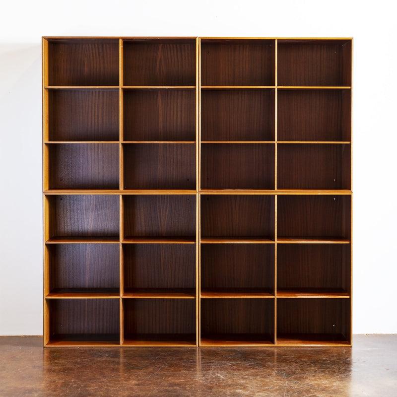 Set of Four Mogens Koch Bookcases in Solid Mahogany for Rud. Rasmussen, Denmark