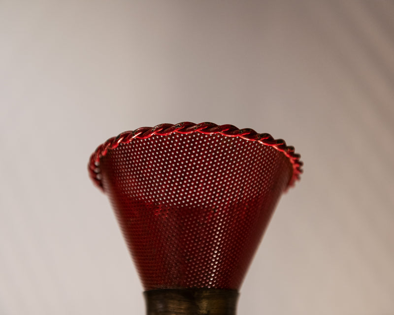 Perforated Sconce Attributed to Mathieu Mategot, France, 1950s