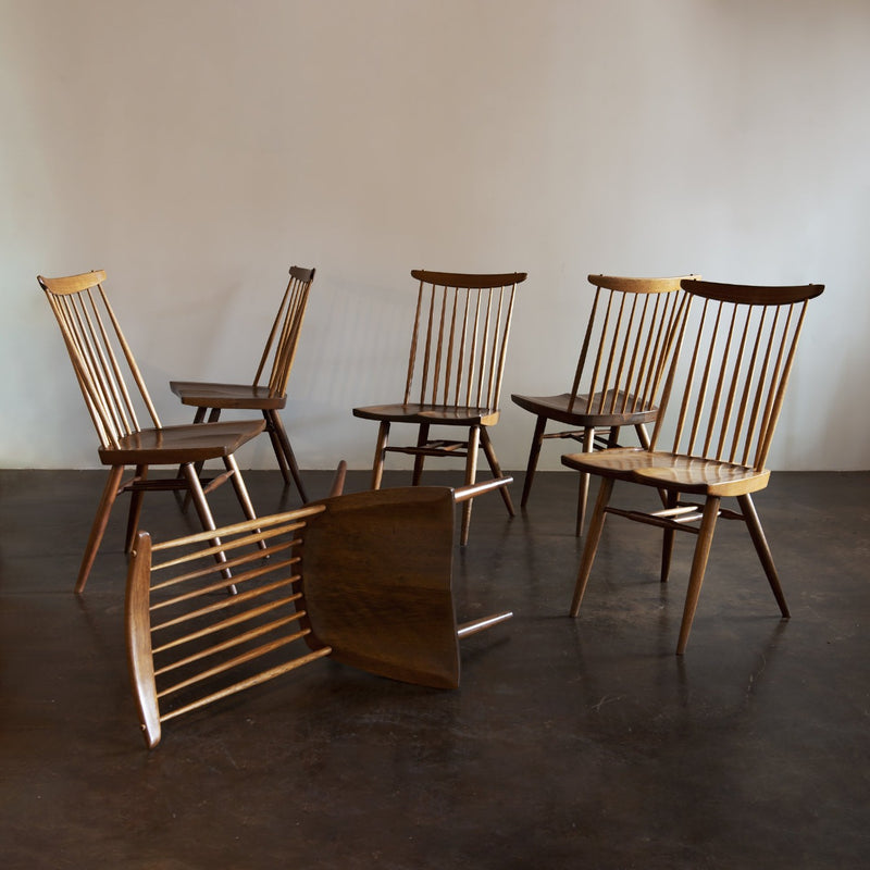 Set of Six Early George Nakashima New Chairs, United States, 1958