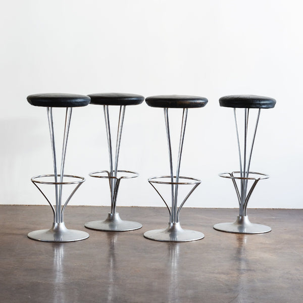 Set of Four Piet Hein Bar Stools, Denmark, 1960s