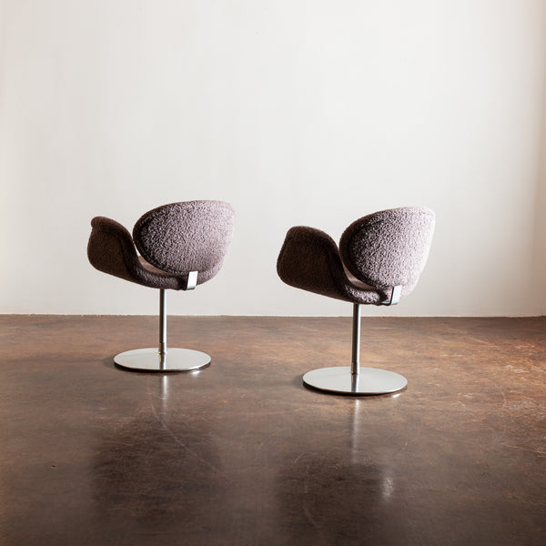 Pair of Tulip Chairs by Pierre Paulin in Alpaca Boucle