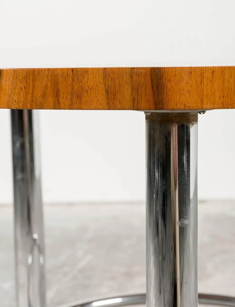Art Deco Walnut Coffee Table by Mucke Melder for Thonet, Czechoslovakia, 1930s
