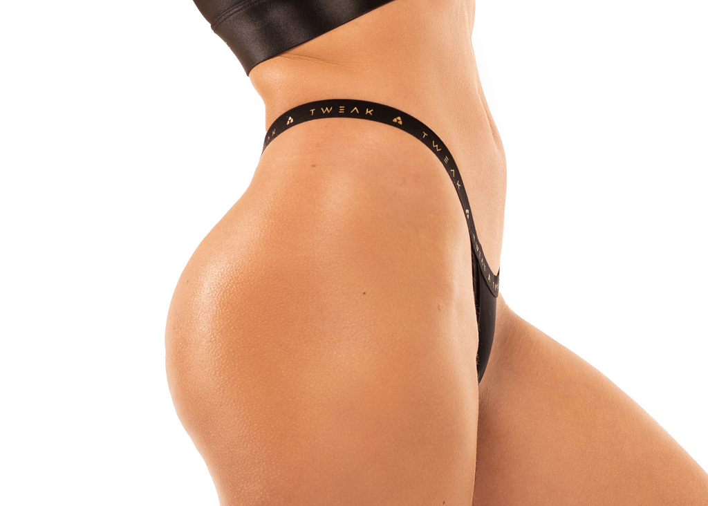 Thong – Black & Gold.