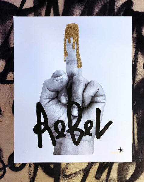 Glitter Finger Gold Silk Screen 16 x 20