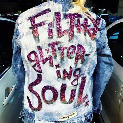 Filthy Glittering Soul Denim Jacket