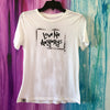 Love Me Anyways Women's White Tee