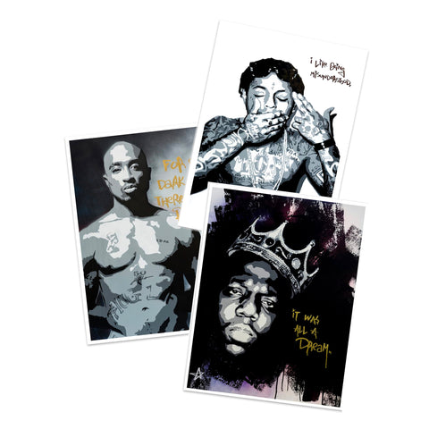 Tupac, Biggie, Lil Wayne, & Fight Club Giclee Prints