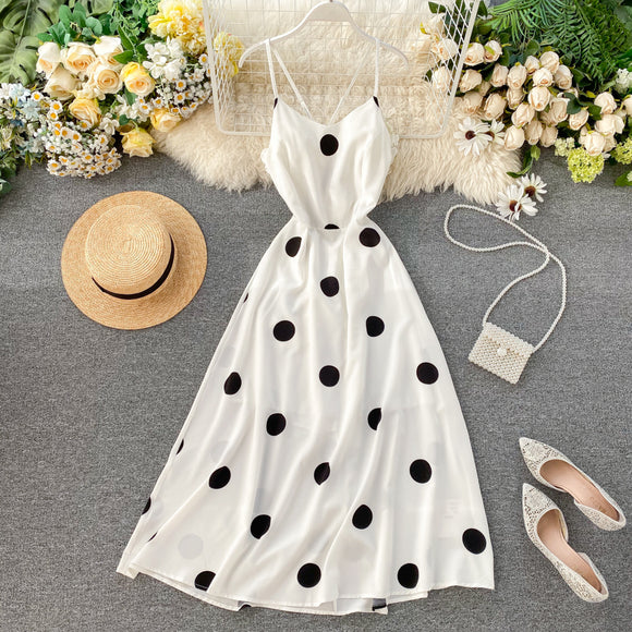 Black and White Polka Dots Dress