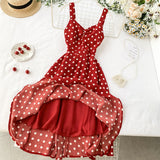 Red Polka Dot Long Dress