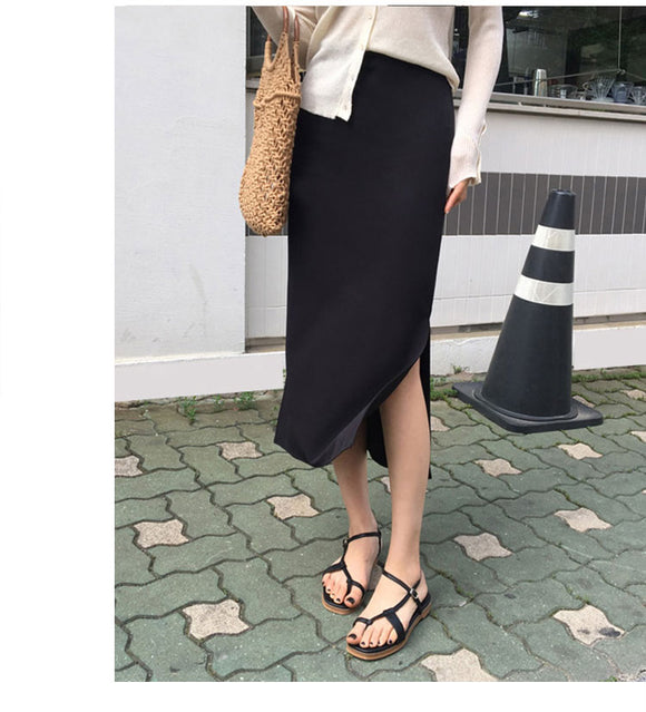 Black Skirt with Side Slit