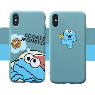 Sesame Street Case For iPhone 8 8plus 7 7 Plus Cases Silicone Phone Case For iphone 6 s 6s Plus X XR XS Max Cases Cover Coque - Phone Case Offers