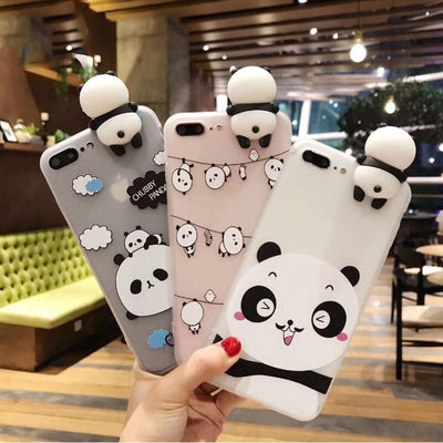 YSW 2020 NEW Cases For iPhone 11 Pro Max 3D Cute Cartoon Panda Translucent Fundas Soft TPU Cover Cell Phone Shell Coque Case - Phone Case Offers