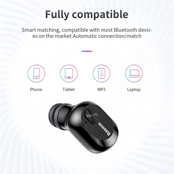 Baseus W01 TWS Bluetooth Earphone Wireless Headphone Bluetooth 5.0 Stereo Bass Wireless earphones With HD Microphone For Phone - Phone Case Offers