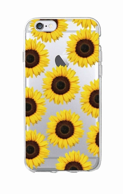 Cute Summer Daisy Sunflower Floral Flower Soft Clear Phone Case Fundas Coque For iPhone 7 7Plus 6 6S 8 8PLUS X XS Max SAMSUNG - Phone Case Offers