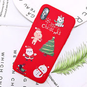 Santa Claus Phone Case For iPhone 5 S SE 6S 7 8 Plus X XR XS 11 Pro Max Cartoon Christmas Deer Snowman Soft TPU Phone Cover Case - Phone Case Offers