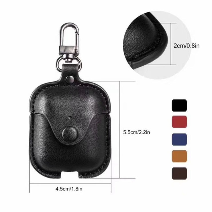Headphone Case For Airpods Leather Case Luxury Genuine Cover For Apple AirPods 2 Case Air pods Earpods Accessories Earphone Bags - Phone Case Offers