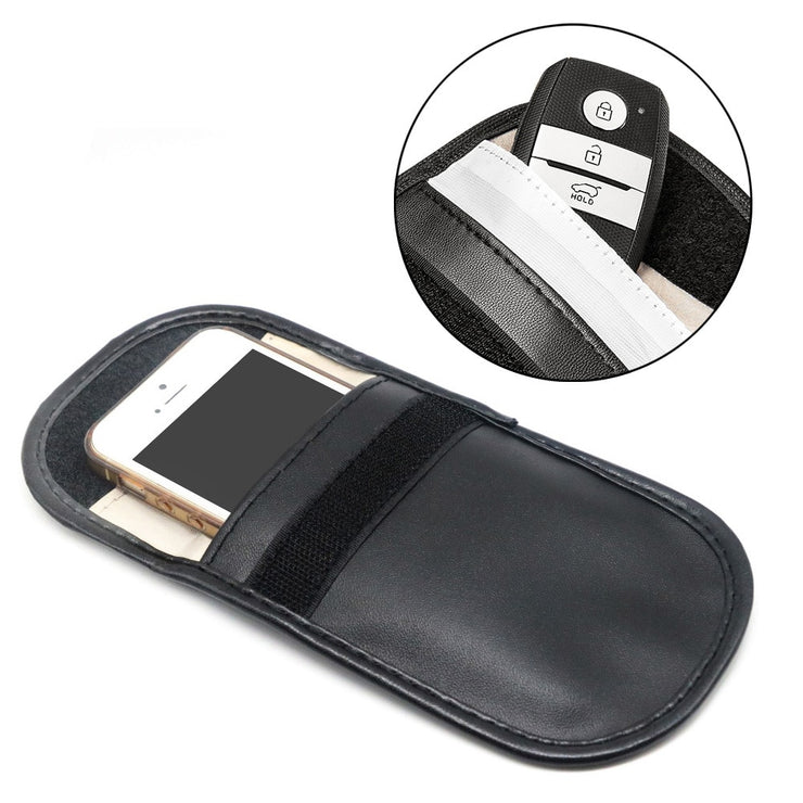 Car Key Signal Blocker Case Faraday Cage Fob Pouch Keyless RFID Blocking Bag - Phone Case Offers