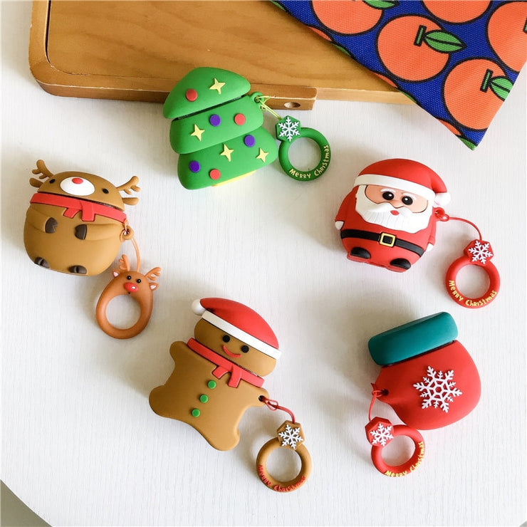 For airpods case Fundas For Airpods 2 case cover cute 3D Wireless Bluetooth Headphones Protective Cover Silicone Earphone Case - Phone Case Offers