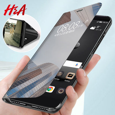 Luxury Smart Mirror Flip Phone Case For Samsung Galaxy S10E S10 S9 S8 Plus Cover  Cover - Phone Case Offers