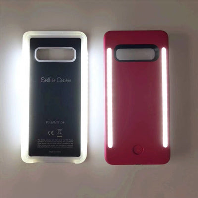 For Samsung S10 anti-fall 3 generations Light Up selfie flash phone Case flash Protector Cover Bag For Samsung s8 s9 s10 plus - Phone Case Offers