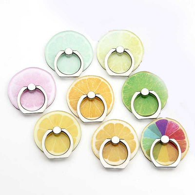 New Arrival Mobile Phone Holder Metal Finger Ring Holder Cute Lemon Fruits Phone Ring Holder Phone Stand Support - Phone Case Offers