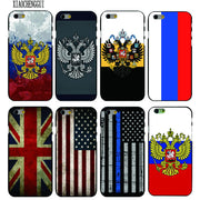 Russian flag / emblem / mobile phone shell plastic for iphone 4s 5s se 6 6s plus 7 7 plus 8 x case mobile phone shell - Phone Case Offers