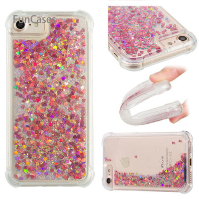 Quicksand Case sFor Hoesje iPhone 7 Soft TPU Phone Case Cellular Squishy Back Cover sFor iPhone 8 Mobiltelefon Coque Venta - Phone Case Offers