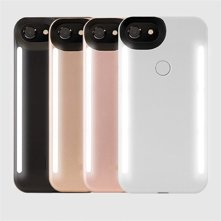 New arrival For iPhone XS MAX XR anti-fall 3 generations  Light Up selfie flash phone Case for iphone 11 Pro X XS 6 6s 7 8 plus - Phone Case Offers
