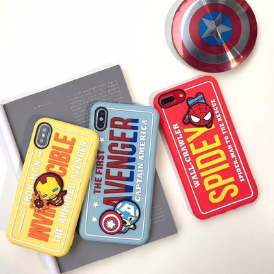 Cute 3D Cartoon Avengers patte Phone Case For iPhone 6 6s 7 8 Plus Back Cover for iPhone X XS MAX XR Coque - Phone Case Offers