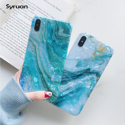 Glitter Marble Case For iphone 7 XR XS MAX Case Soft TPU Back Cover For iphone 6 6S 7 8 Plus iphone X XR Case Cover Phone Case - Phone Case Offers