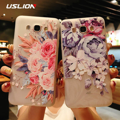 Flower Phone Case For Samsung Galaxy S9 S8 Plus S7 Edge A3 A5 A7 J3 J5 J7 2017 Series Note 9 8 Clear Soft TPU Cover Cases - Phone Case Offers