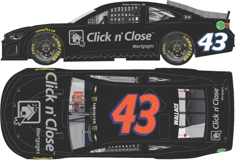 Bubba Wallace 2018 #43 Click n' Close Test Car ZL1 Camaro RCCA ELITE 1:24 ARC - - Lesher's Diecasts ®