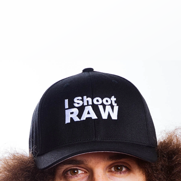 I Shoot RAW Black Baseball Hat