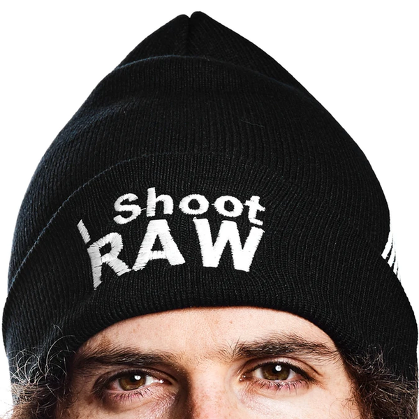 I Shoot RAW Black Beanie