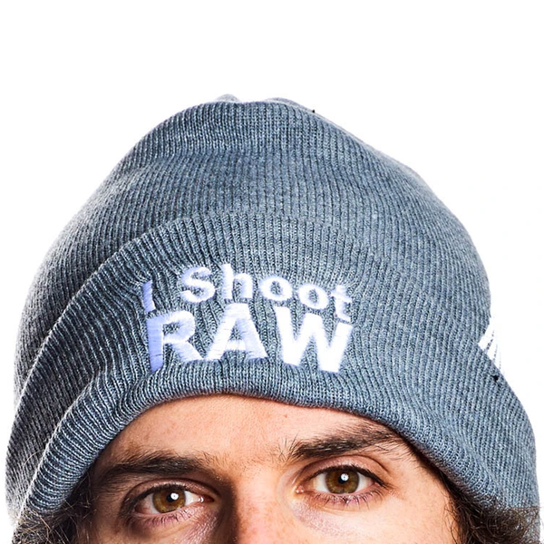 I Shoot RAW Grey Beanie