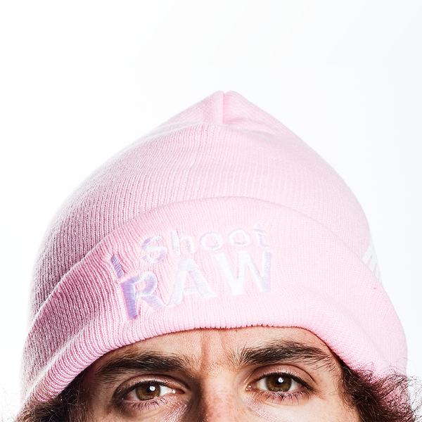 I Shoot RAW Pink Beanie