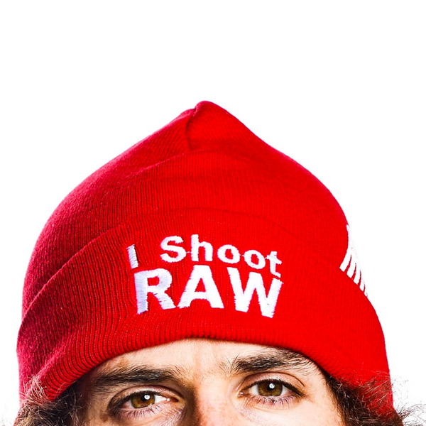 I Shoot RAW Red Beanie