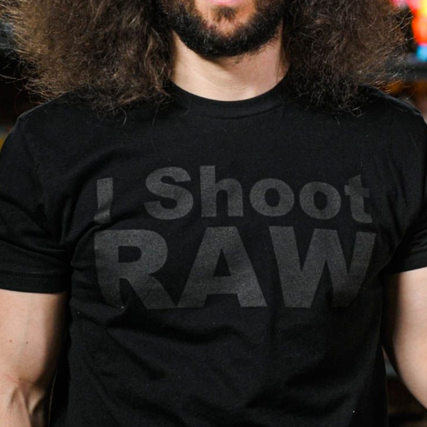I SHOOT RAW Stealth Tee