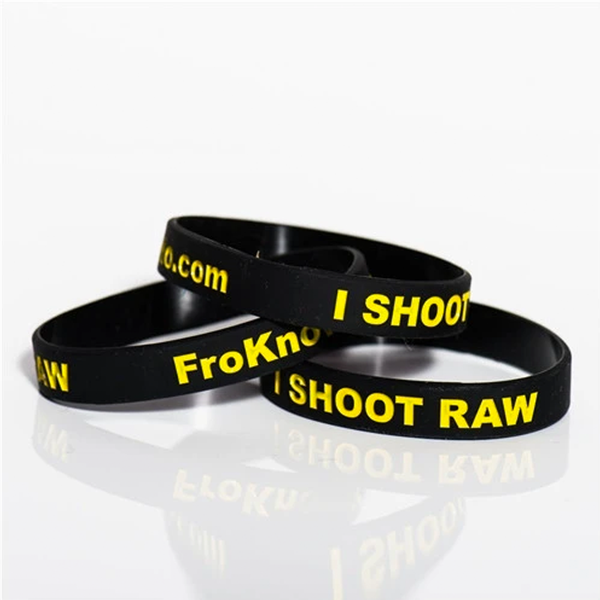 Black and Yellow Wrist Band 3 Pack