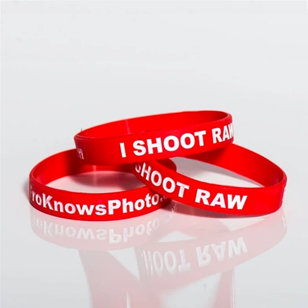Red and White Wrist Band 3 Pack