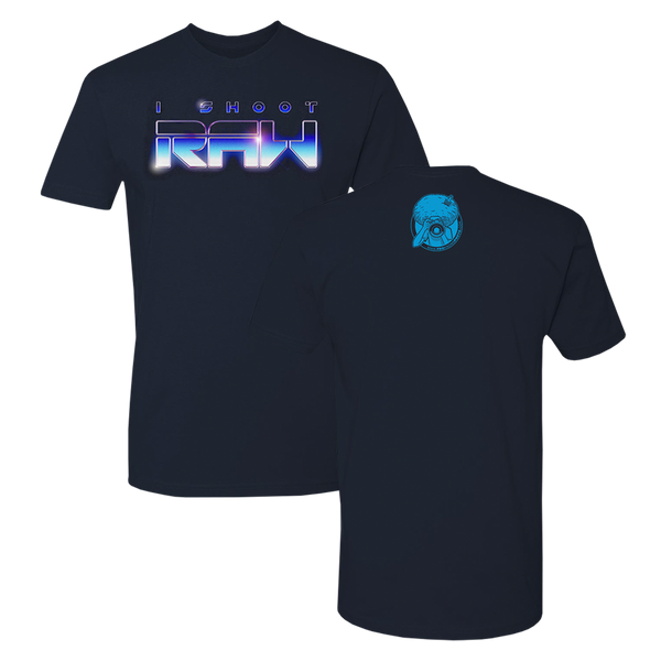 I SHOOT RAW Tron Tee