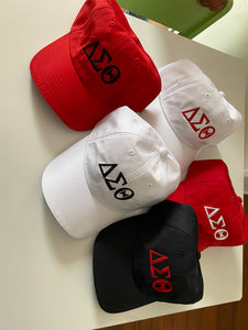 DST Greek Letter Baseball Caps